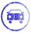 car grunge textured icon vector image