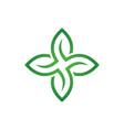 eco leaf organic logo image vector image