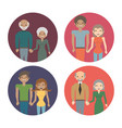 family couple members love image vector image
