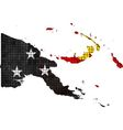 Papua New Guinea map with flag inside vector image
