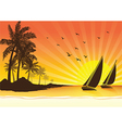 Sail boat background vector image