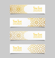 Set of banners with traditional ornament vector image