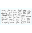 Wedding Lettering photography overlay set vector image