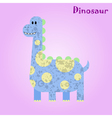 Monster for children funny happy dinosaur drawing vector image