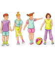 Boy and girls vector image vector image