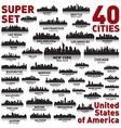 Super city skyline set United States of America vector image vector image