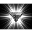 Shiny bright diamond vector image vector image