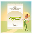 pack of peas seeds icon vector image