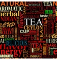 Seamless background with tea tags vector image vector image