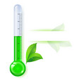thermometer by seasons spring on white vector image vector image
