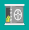 eps10 flat concept safe icon vector image