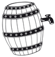 Barrel with beer vector image