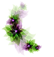 Green and purple romantic flowers vector image