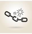 icon broken chain vector image