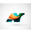 Abstract geometric company logo N letter vector image