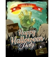 Invitation to zombie party EPS 10 vector image