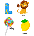 L alphabet vector image