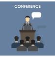 Conference design concept set vector image