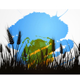 wheat field vector image