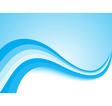 Blue light wave background vector image vector image
