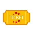ticket stub isolated icon design vector image