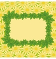 Frame of leaves and flowers vector image