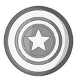 independence day star icon monochrome vector image