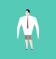Naked businessman with tie business bankrupt vector image