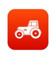 tractor icon digital red vector image