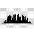 City icon town Silhouette vector image vector image