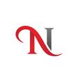N Letter Logo Template vector image