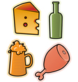 objects of drink and food vector image