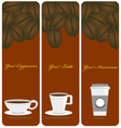 The Coffee Cups Labels vector image vector image