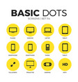 screens flat icons set vector image