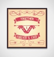 Me and you together phrase grunge vector image