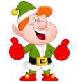 thumbs up elf vector image vector image