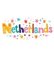 Netherlands Holland decorative lettering vector image