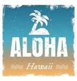 aloha with hot beach colors retro vector image