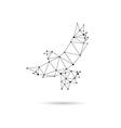 Geometric dove design silhouette vector image