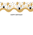 birthday long vector image