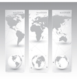 Collection vertical banner design World Map and vector image