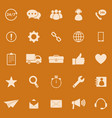 customer service color icons on orange background vector image
