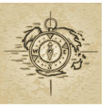 doodle style compass vector image