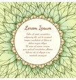 Hand drawn floral background with text vector image