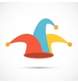Jester hat flat icon vector image