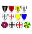 Medieval shields vector image
