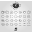 Set of starbursts for vintage logos vector image