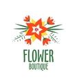 vecror logo for a flower shop Bright bouquet vector image