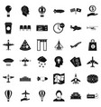 aircraft icons set simple style vector image