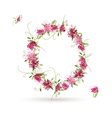 Floral letter O for your design vector image vector image